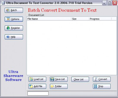 Ultra Document To Text ActiveX Component 2.0.2013.6 screenshot
