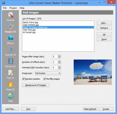 Ultra Screen Saver Maker 3.3 screenshot
