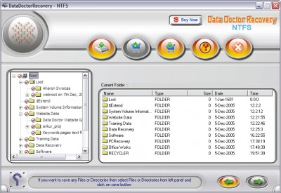 Undelete NTFS Hard drive data 2.0.1.5 screenshot