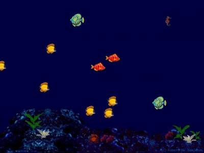 Animierte Unterwasserwelt als