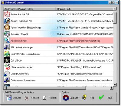 UninstallDummy! 1.2 screenshot