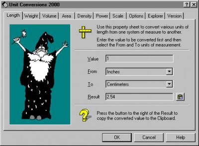 Unit Conversions 2000 2.6 screenshot