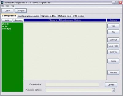 Universal Configurator 1.5 screenshot