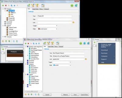 Universal CSS Menu Expression Web addins 2.0.3 screenshot
