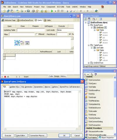 Universal Data Access Components for Delphi 7 4.00 screenshot