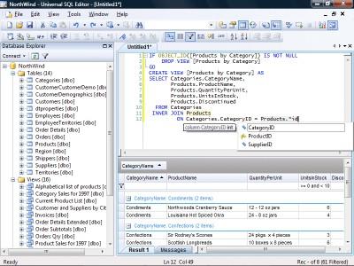 Universal SQL Editor 1.9.1.1 screenshot