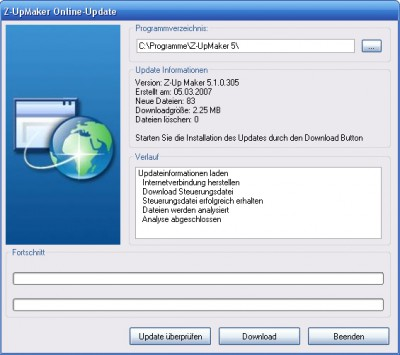 UpdateMaker 2.7.1 screenshot