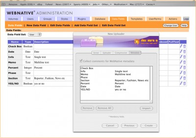 Upload Client Creator for Venture (Macintosh) 1.1 screenshot