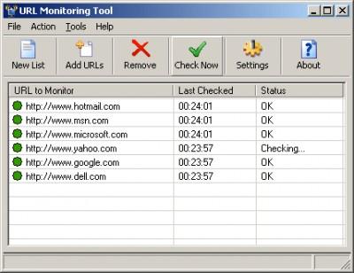 URL Monitoring Tool 2.98 screenshot