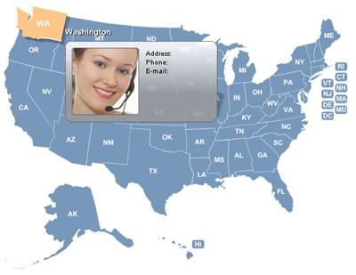 USA Map Locator 3.0 screenshot