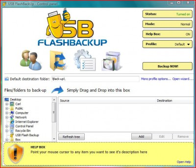 USB Flash Backup 2008 2.1.5.16 screenshot