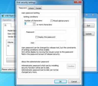 USB Flash Security++g 4.1.11 screenshot