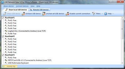 USB Network Gate 7.0 screenshot