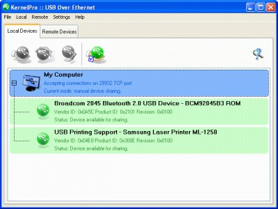 USB over Ethernet 3.5 screenshot