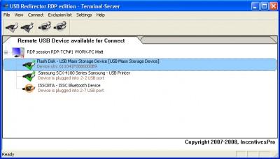 USB Redirector RDP Edition 3.10 screenshot