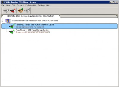 USB Redirector TS Edition 2.10 screenshot