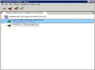 USB Redirector TS Edition 2.10 screenshot