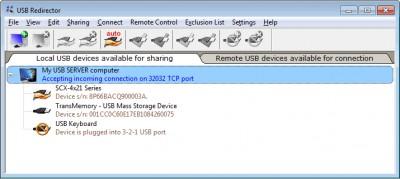 USB Redirector 6.1.1 screenshot