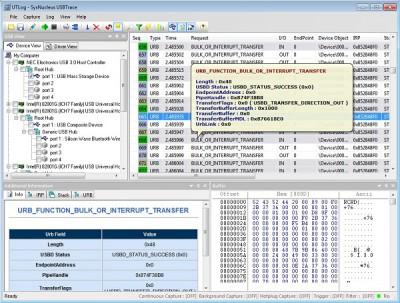 USBTrace 3.0.1.82 screenshot