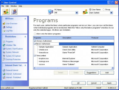 User Control 2009 6.9 screenshot
