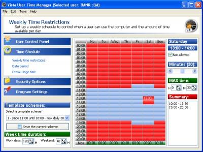 User Time Administrator 6.1.3.1 screenshot