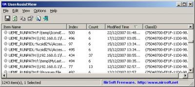 UserAssistView 1.02 screenshot