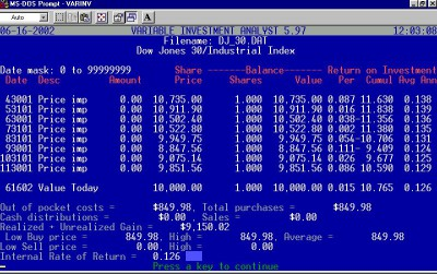 Variable Investment Analyst 6.00 screenshot