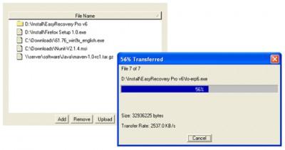 Vault File Upload and Download Applet 2.1 screenshot