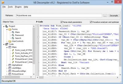 VB Decompiler 10.5 screenshot