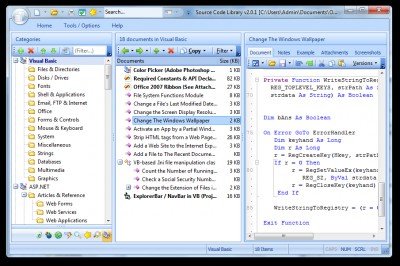 VB.NET Code Library 2.1.0.212 screenshot