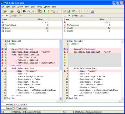 VBA Code Compare 0.4 screenshot