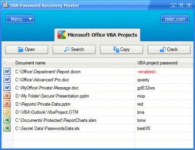 VBA Password Recovery Master 3.0 screenshot