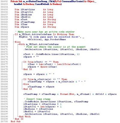 VBAcodePrint97 1.4.67 screenshot