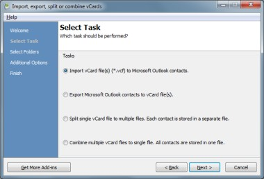 vCard Import-Export for Outlook 3.12 screenshot