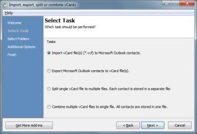 vCard ImportExport for Outlook 3.5 screenshot