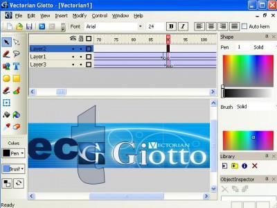 Vectorian Giotto - Flash Animation Tool 2.06 screenshot
