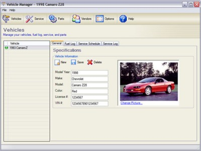 Vehicle Manager 3.0.1005 screenshot