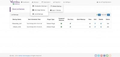 Vembu VMBackup 3.6 screenshot