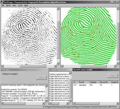 VeriFinger Standard SDK (Linux Demo) 4.2 screenshot