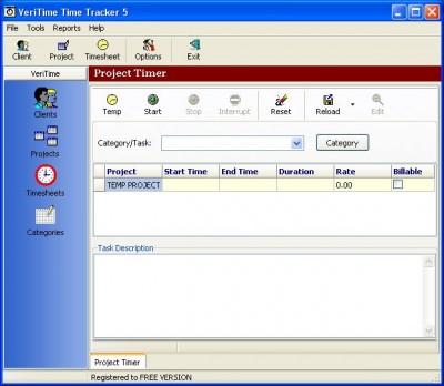 VeriTime Time Tracker 5.0.4.16 screenshot