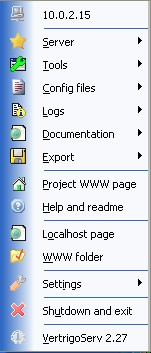 VertrigoServ WAMP server 2.55 screenshot