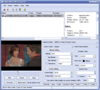 VFC CONVERT VOB TO MP4 2011.1105 screenshot