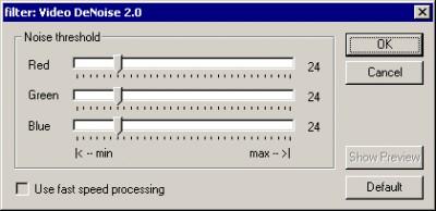 Video DeNoise for VirtualDub 2.0 screenshot