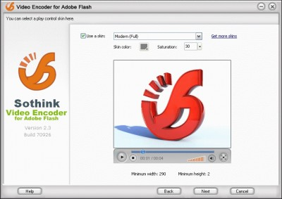 Video Encoder for Adobe Flash 2.3 Build screenshot