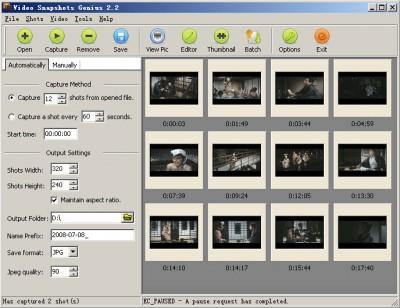 Video Snapshots Genius 4.1 screenshot