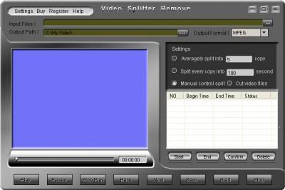 Video Splitter Remove 1.00 screenshot