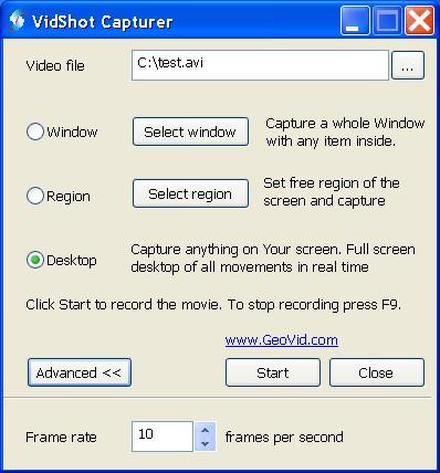 VidShot Capturer 1.0.72 screenshot