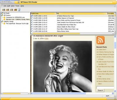 VIP Rumor RSS Reader 5.4.0 screenshot