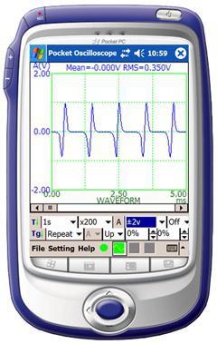 Virtins Pocket Oscilloscope 1.0 screenshot