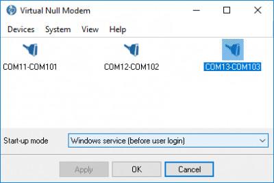 Virtual Null Modem 2.6.2.913 screenshot